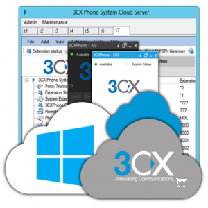 3CX CLOUD paslaugos paketas CONTACT CENTER-80DB